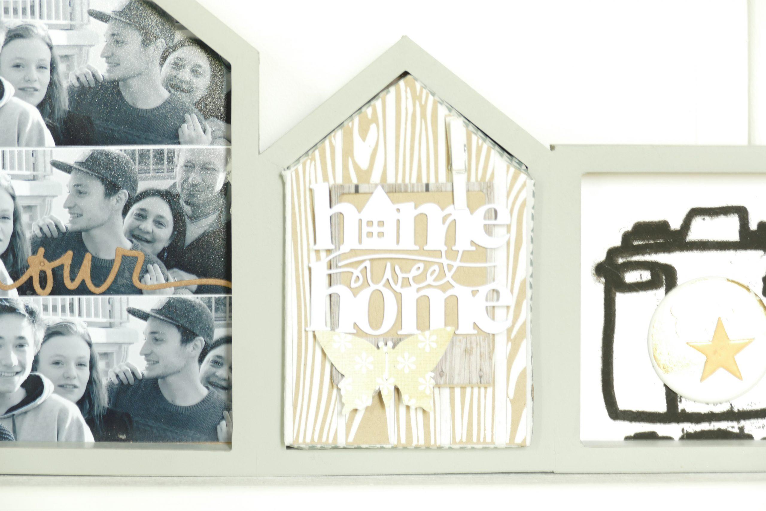 atelier scrapbooking cadre maison et photos