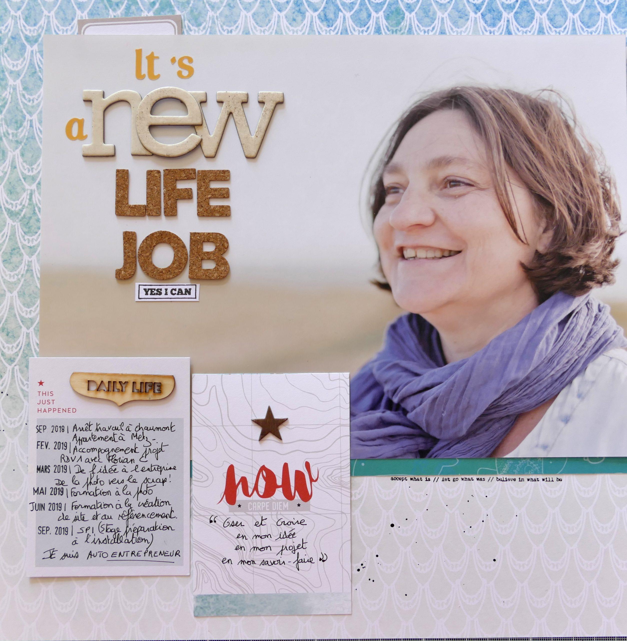 portrait agnès vous raconte page scrapbooking new life new job