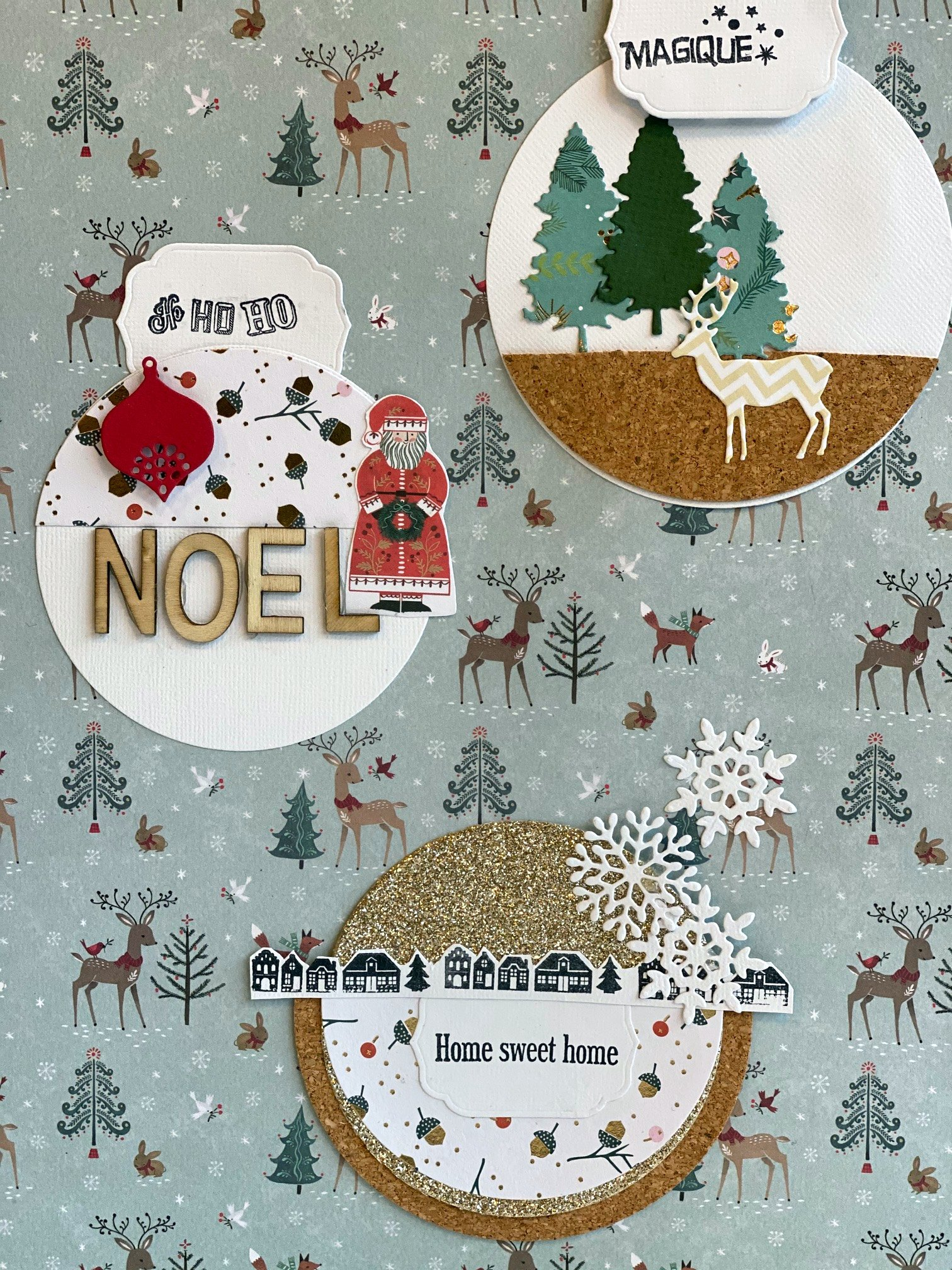 scrapbooking décoration noel page zodio metz atelier creatif