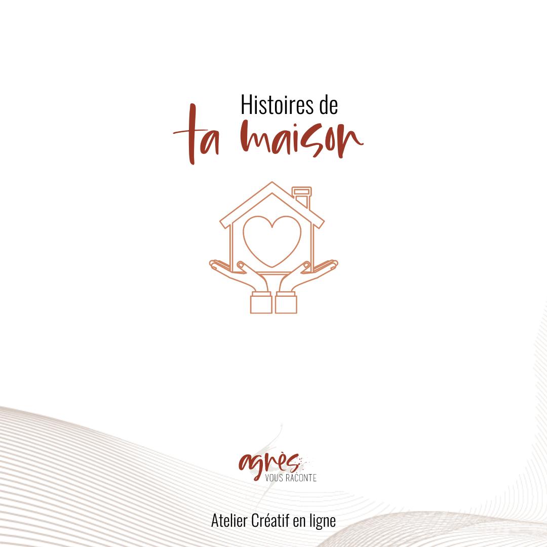 logo bannière atelier en ligne histoires de ta maison