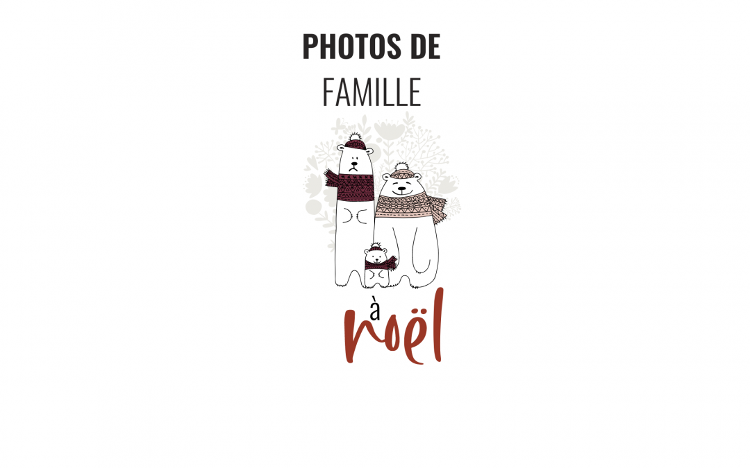 illustration photo de famille à noel
