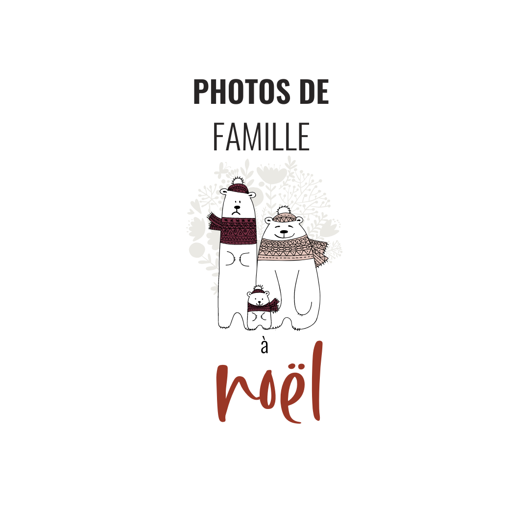 illustration photos de famille à noel