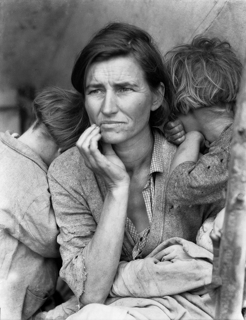 DorotheaLange-photo camp migrants
