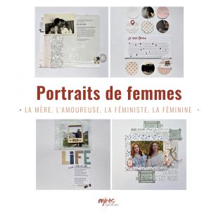 Portraits de femmes 4 portraits de femme en scrapbooking
