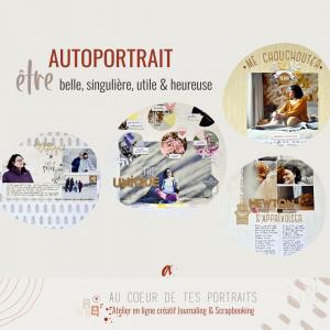 autoportrait atelier en ligne scrapbooking